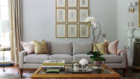 grey and gold living room light gray sofa transitional living room morgan