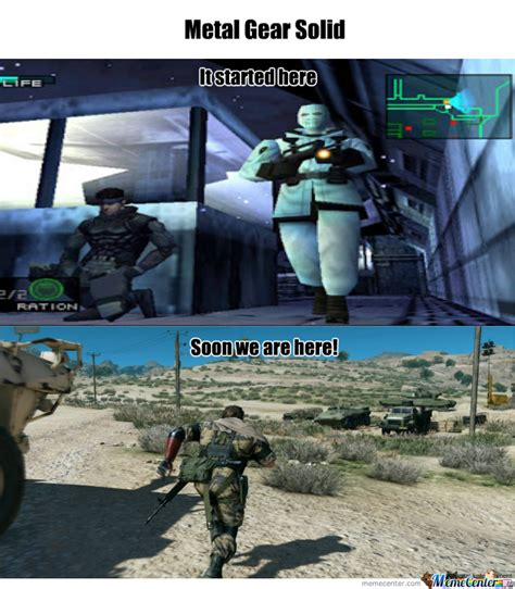Metal Gear Solid Meme - metal gear solid evolution by goxon1 meme center