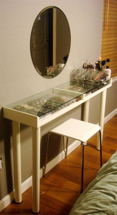 ikea makeup vanity hack 9 awesome diy ikea hacks for your beauty nook shelterness