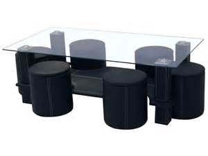 table basse 6 poufs sixty coloris noir conforama