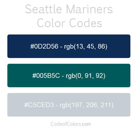 seattle mariners colors seattle mariners colors hex and rgb color codes