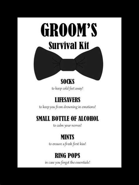 wedding day emergency kit checklist groom groom s survival kit printable instant grooms