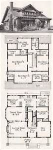 vintage bungalow house plan architectural illustrations
