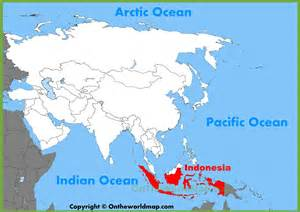 Indonesia Map World by Indonesia On World Map Related Keywords Amp Suggestions