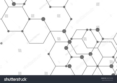 geometric network pattern geometric lines dots line pattern modern stock vector