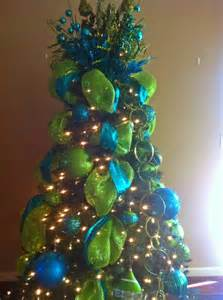 green tree decorations tree blue green glitter