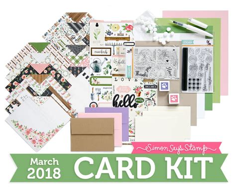 card kit for march 2018 card kit gallery simon says st