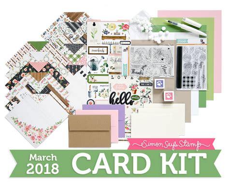 card kit simon s choose march 2018 card kit inspiration see
