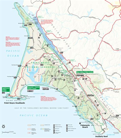 point reyes national seashore map geology of national parks