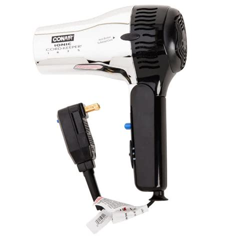Conair 1875 Hair Dryer Hotel conair 169chiw chrome cord keeper hair dryer 1875w