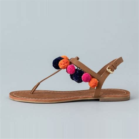 laundry posh beaded flat sandal rank style
