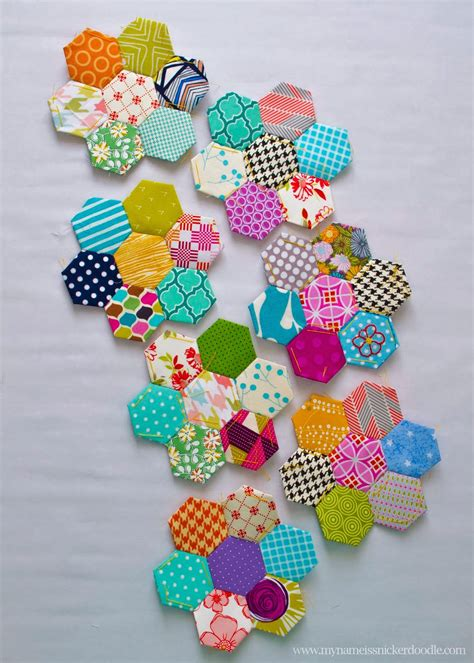 Sewn Patchwork - my name is snickerdoodle a for hexagons