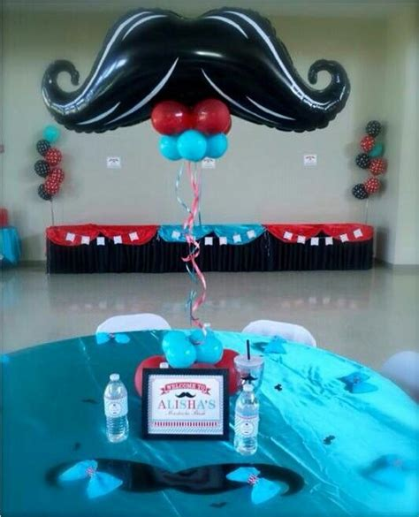 Mustache Decoration Balloon Center Pieces Centros De Mustache Centerpieces