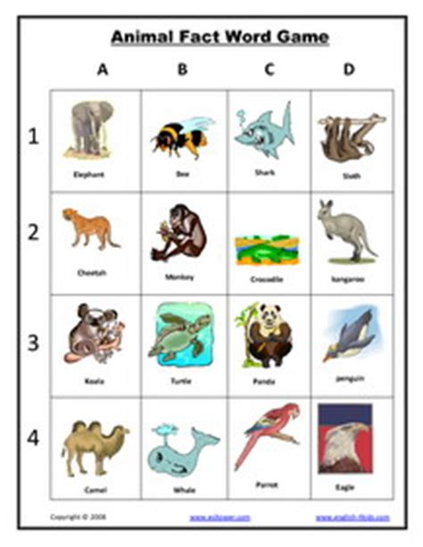 animal printable exercises esl english vocabulary printable animal vocabulary