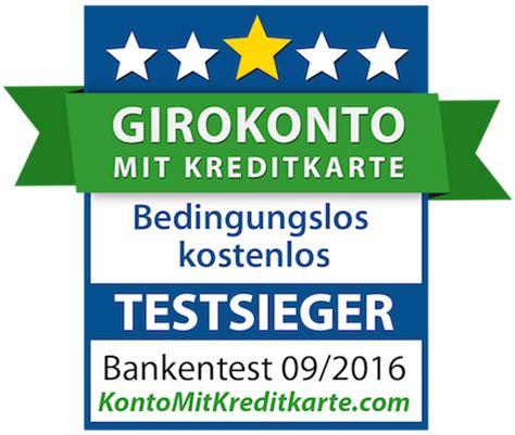 testsieger banken bestes kostenloses girokonto mit kreditkarte konto