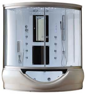 eagle bath 59 inch steam shower enclosure with whirlpool