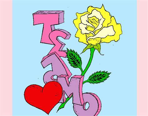imagenes te quiero eduardo dibujo de te amo ii pintado por queyla en dibujos net el
