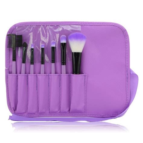 Kuas Makeup Set kuas make up 7 set dengan kulit purple