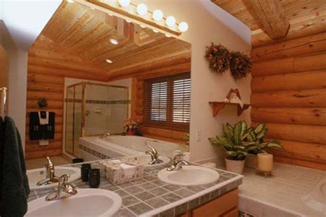 log home bathrooms log home interior photos avalon log homes