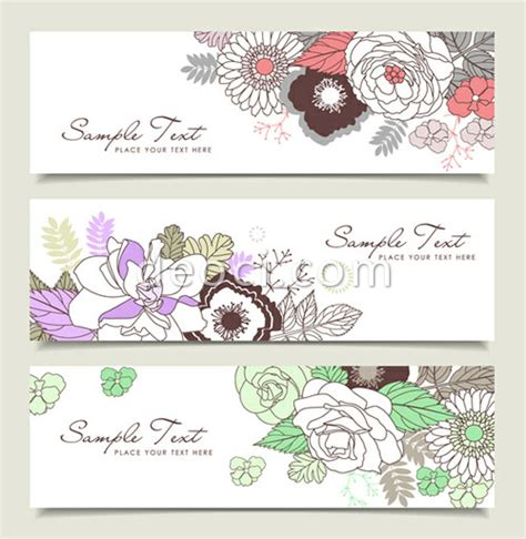 design banner elegant 3 vector elegant pattern website advertising banner design