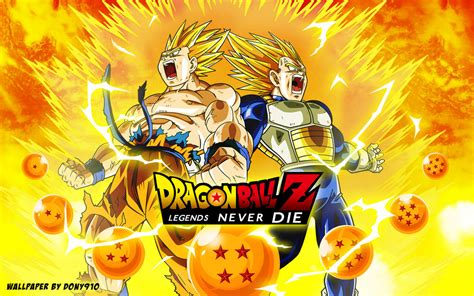 dragon ball wallpaper deviantart wallpaper dragon ball z legends never die by dony910 on
