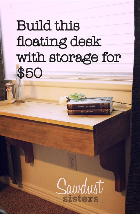 diy student desk diy floating desk vanity with storage sawdust