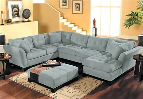 rooms to go metropolis sectional cindy crawford metropolis hydra 4pc sectional living room