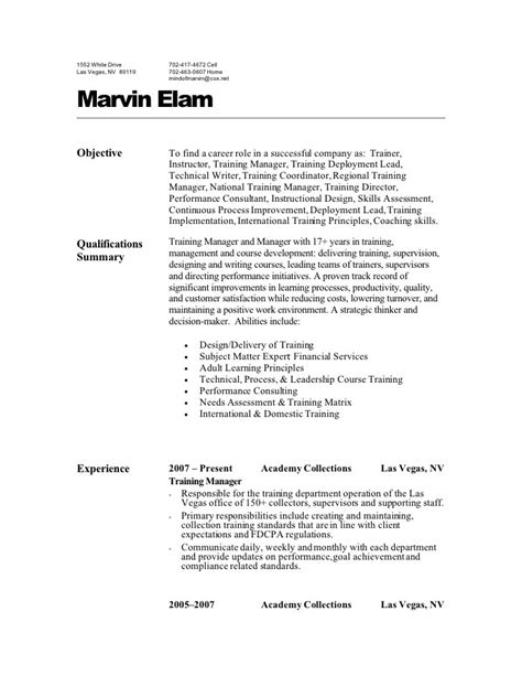 Bill Collector Sle Resume by Resume For Debt Collector Resume Ideas