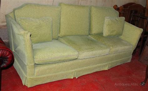 upholstered couch cushions antiques atlas 1960s large green upholstered sofa with