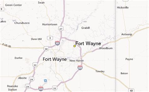 fort location map fort wayne weather station record historical weather for