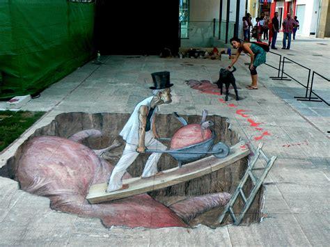 street art anamorphic street art by eduardo relero otherfocus