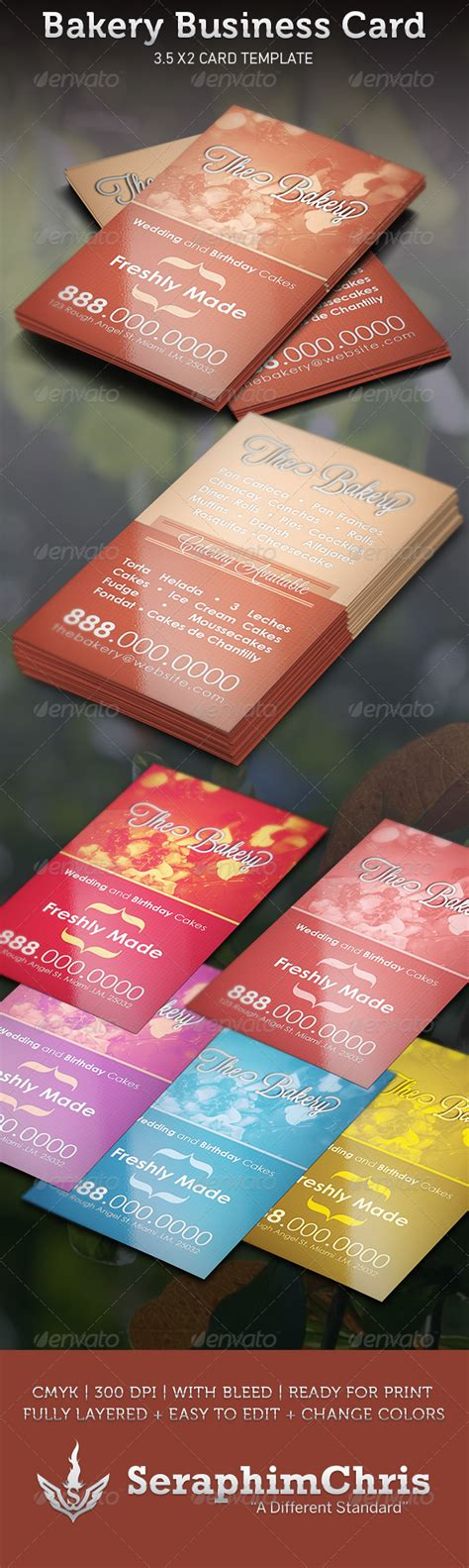 bakery business card template bakery flyer 187 tinkytyler org stock photos graphics