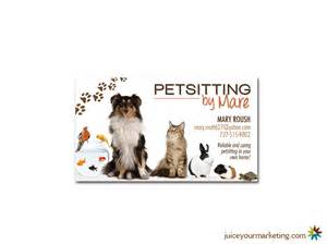 pet sitting business cards business cards juice marketing and design