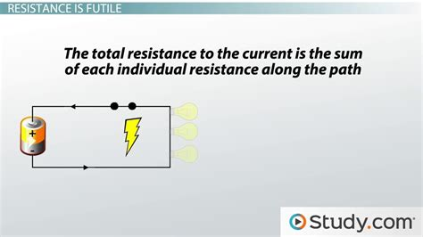 what is the meaning of resistance of a resistor series circuits definition concepts lesson transcript study