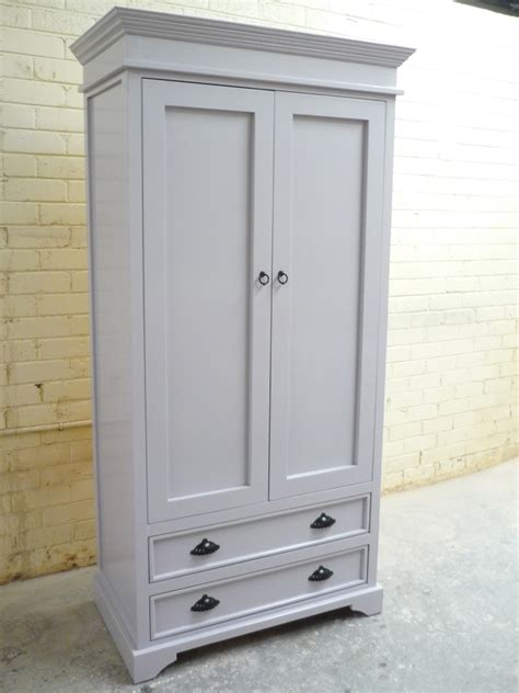 Gray Wardrobe by White Wardrobes Granville Timber Furniture Custom Made