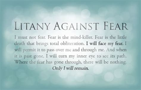 bene gesserit litany against fear frank herbert s dune the bene gesserit s quot litany against fear quot from frank
