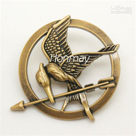 85 Hunger Mockingjay Pin Brooch Berkualitas 2017 the hunger brooch katniss inspired mockingjay bird brooches pin with arrow in