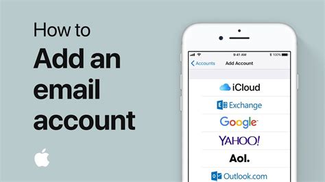 how to add an email account in mail on your iphone or apple support