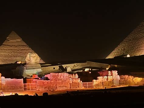 sound and light giza cairo nightlife sound and light at giza pyramids with