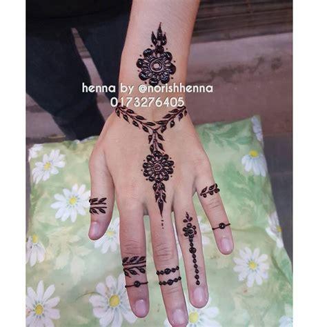Design Henna Simple Terkini | perkhidmatan ukiran inai pengantin inai tangan simple