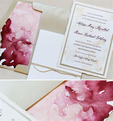 Wedding Invitations Watercolor watercolor wedding invitations gangcraft net