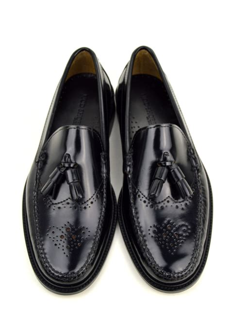 brogues loafers tassel loafer brogues in black the lord brogue mod shoes