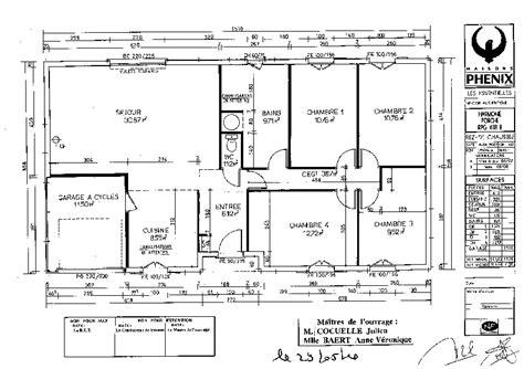 plan de maison 100m2 3 chambres plan maison plein pied 100m2 avec garage
