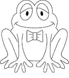 frog animal coloring pages kids