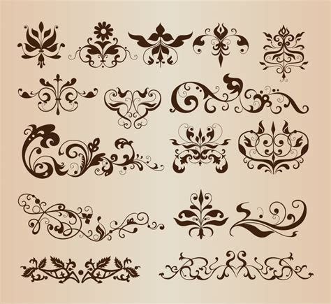 design elements images elegant decorative floral design elements vector