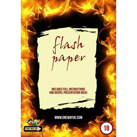 Flash Paper - flash paper one way uk