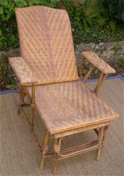 chaise longue rotin chaise longue ancienne en rotin