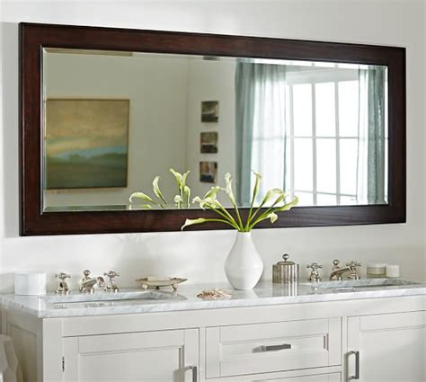 double wide bathroom mirror classic double wide mirror pottery barn