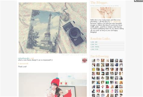 tumblr themes cute and simple ohmylayouts tumblr themes tumblr layouts