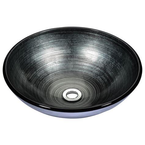 bathroom ls home depot anzzi stellar series deco glass vessel sink in precious